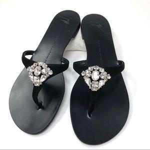 🆕 GIUSEPPE ZANOTTI rhinestone embellished thongs